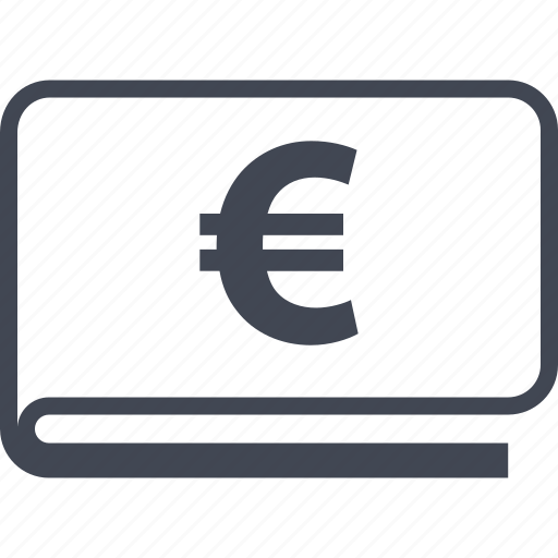 euro, funds, wallet icon