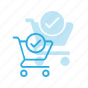 action, buy, cart, check, shop, store icon