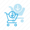 action, buy, cart, input, shop, store icon
