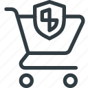 action, buy, cart, protect, secure, shop, store icon