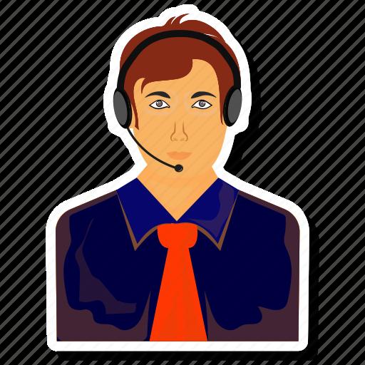 avatar, headphone, man, men, support icon