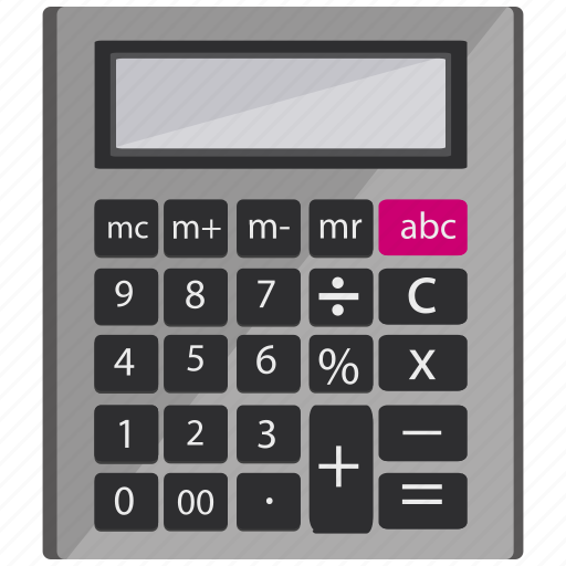 Calc, calculating, calculator, digital icon - Download on Iconfinder