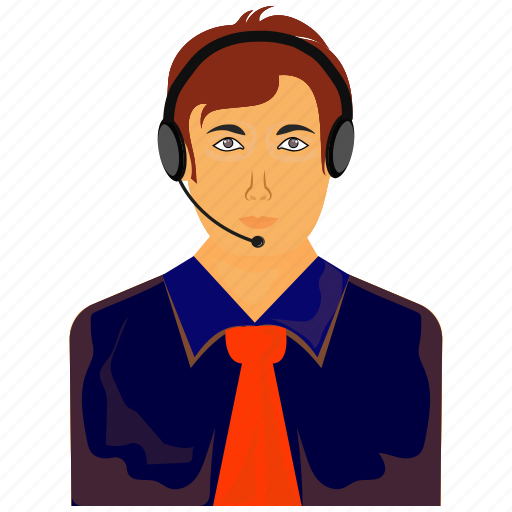 avatar, headphone, man, men, support icon