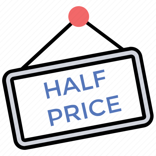Sale offer, special coupons, black friday, half price, sale offers icon