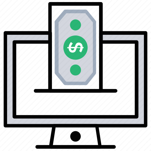 cash payment, ecommerce, electronic payment, online invoice payment, online payment, online transactions icon