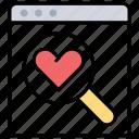 dating website, explore favorite website, exploring valentine offers, matrimonial site, online wishlist icon