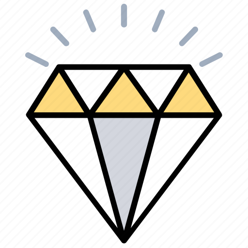 Cubic crystal, overwatch, diamond, precious gem, sparkling jewel icon - Download