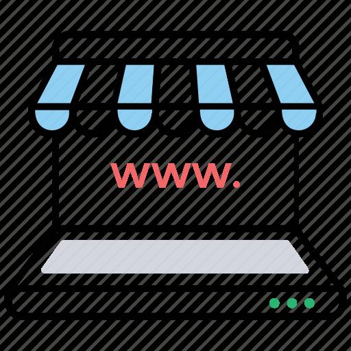 Online store, shopping website, online shop, online marketplace, shopping web portal icon - Download