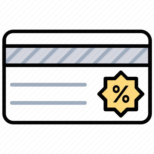discount card, off price card, price reduction scheme, promotional offer coupon, shopping card icon