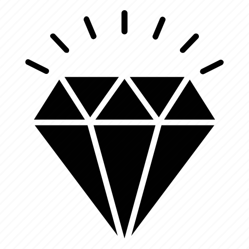 cubic crystal, diamond, overwatch, precious gem, sparkling jewel icon