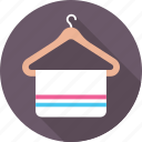 fabric, hanger, towel, wardrobe, wiping