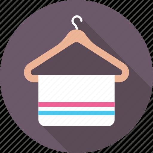 fabric, hanger, towel, wardrobe, wiping icon