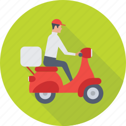 courier service, delivery boy, package, postman, shipping icon