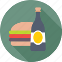 burger, fast food, food, junk food, wine icon