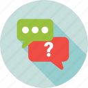 ask, chatting, faq, help, question mark icon