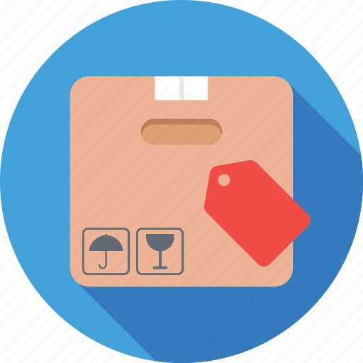 box, delivery, label, package, parcel icon