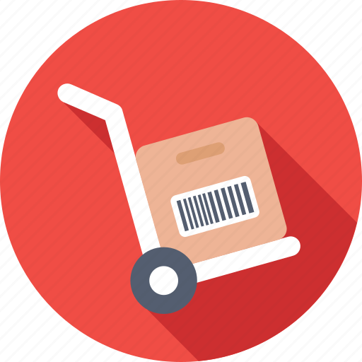 courier, hand truck, luggage, package, trolley icon