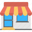 market, marketplace, shop, shopping, store icon