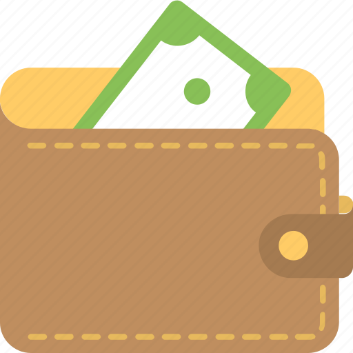 billfold, pocketbook, purse, wallet, wallet money icon