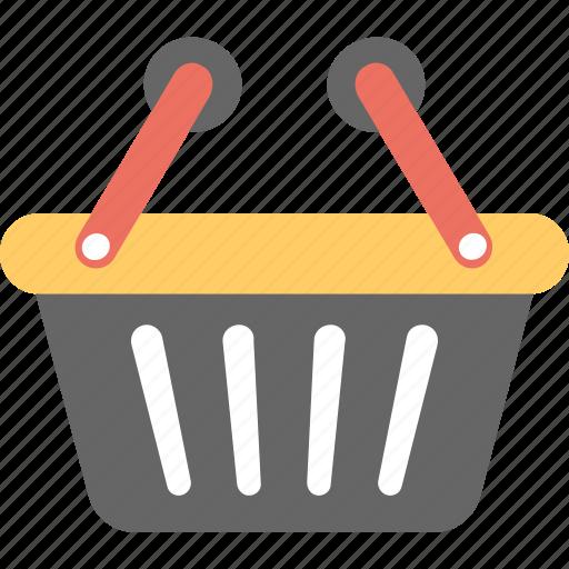 basket, grocery, hamper, hand basket, shopping basket icon