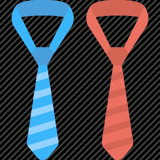 colored neckties, mens wardrobe, neckties, striped neckties, two striped neckties icon