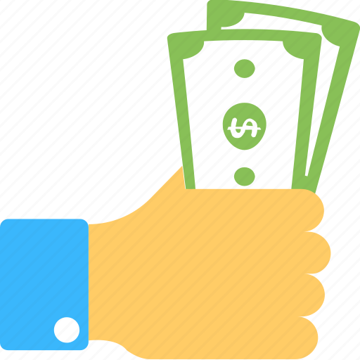 Cash payment, hand holding cash, payment, reimbursement, salary icon - Download on Iconfinder