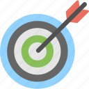 dart with dartboard, focus, target, target arrow, target with arrow icon