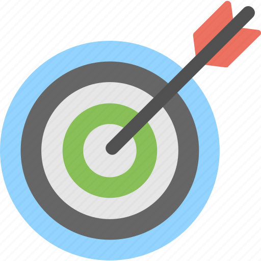 dart with dartboard, focus, target, target arrow, target with arrow icon