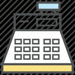 bill machine, cash register, cash till, finance, invoice machine, point of sale, pos, till supplier icon