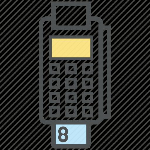 card machine, card swipe machine, card terminal, edc machine, invoice machine, swap machine icon