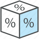 discount, discount cube, discount label, offer, offer cube, percentage, promotion icon