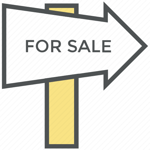 for sale, for sale signboard, information, real estate, sale direction, signboard icon