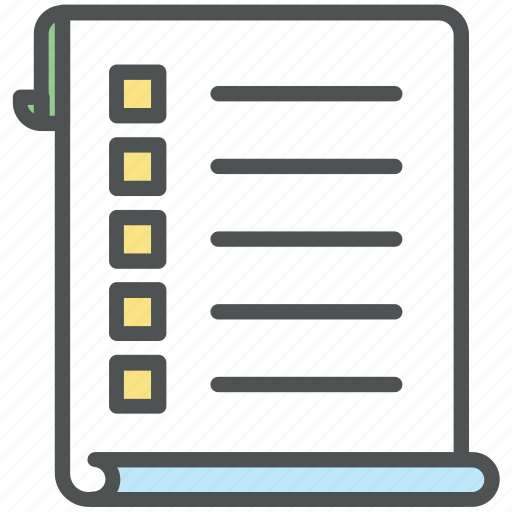 checklist, documents, list, paper, plan list, shopping list icon