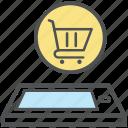 commerce, e commerce, mobile shopping, online shopping, phone, shopping application icon