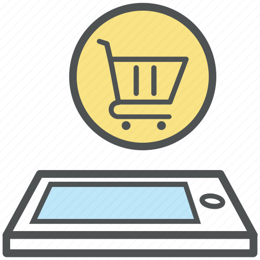 commerce, e commerce, mobile shopping, online shopping, phone, shopping application icon