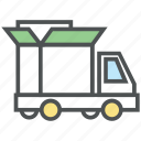 cargo van, consignment truck, delivery van, shipping truck, transport, vehicle icon