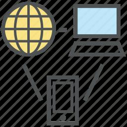 affiliate marketing, communication, marketing, mobile marketing, online marketing, worldwide icon