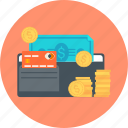 coin, money, pay, payment type, wallet