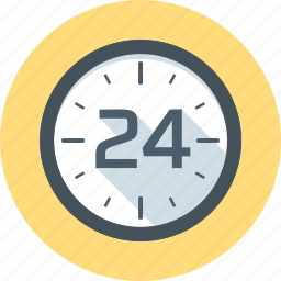 clock, support, time, twenty four hours, work icon