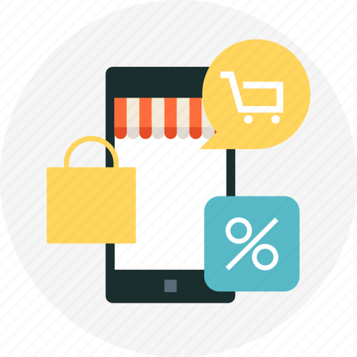 cart, discount, mobile phone, mobile shopping, online, online shopping, shop icon