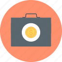 bag, business, gold, money, money bag, portfolio icon