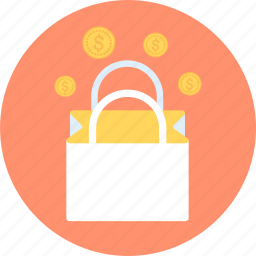 bag, coin, money, shopping, shopping bag icon