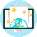 international business, internet, money, online payment, online store, pay, world icon