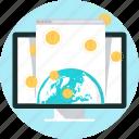 international business, internet, money, online payment, online store, pay, world