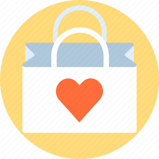 add to cart, bag, heart, love, shop, shopping bag, valentines day icon