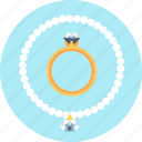 diamond, gold, jewelery, necklace, ring icon