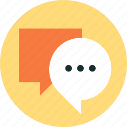 chat, communication, discussion, speech bubble, talk icon