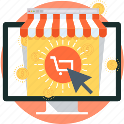 buy now, cart, computer, internet, money, online shop, shopping icon