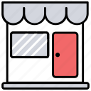 departmental store, marketplace, retail shop, store front, supermarket icon