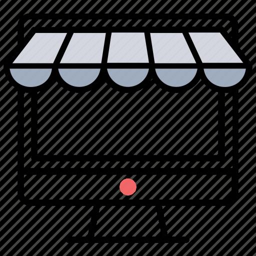 e-shopping, e-store, ecommerce website, online shop, web shop icon